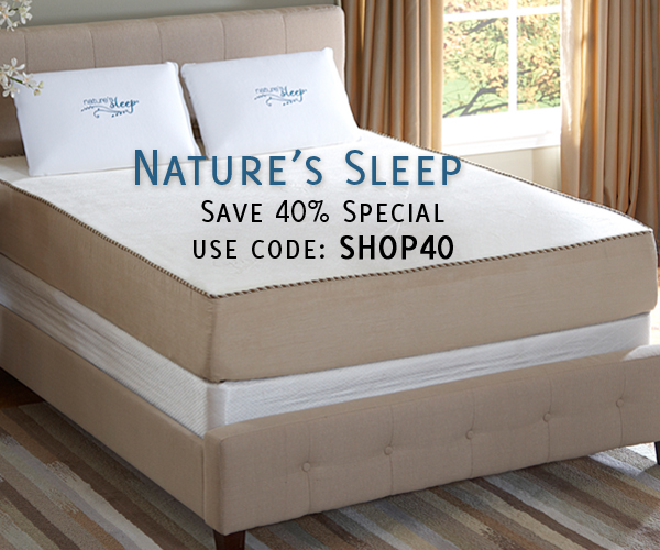 Save 40% At Nature's Sleep With Free Shipping