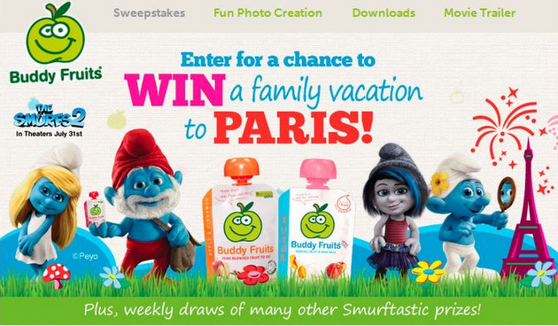 How Would You Like To Win A Trip To Paris? #BuddyFruitsSmurfs2