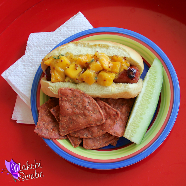 Grilled Hot Dogs With Mango Relish Recipe (1)