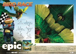 epic movie printable bird race game