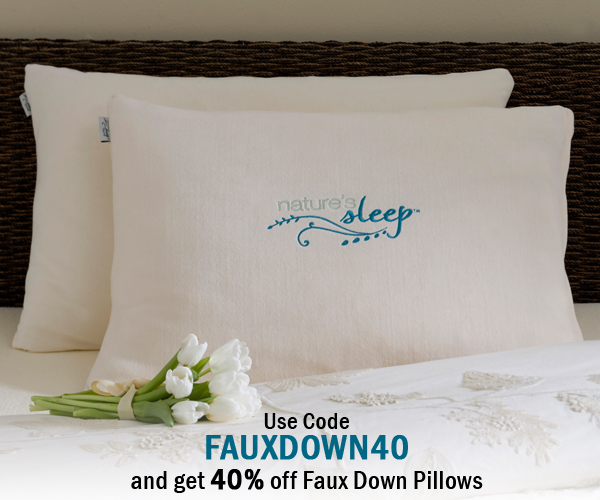 Save Big on Nature's Sleep FauxDown Pillows