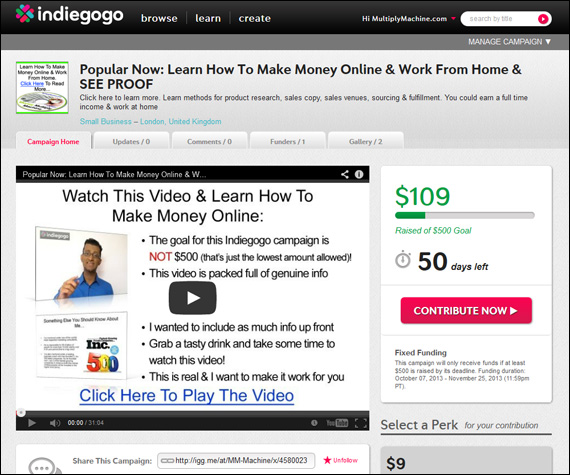 You Can Earn Money Online Billy Says…
