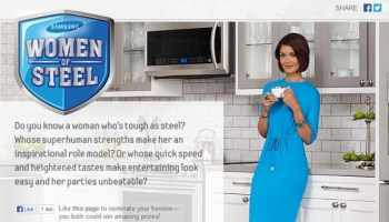 Nominate Your Woman Of Steel To Win From Samsung Home