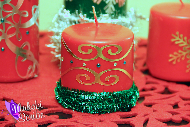 Christmas Candle Craft Decorations With The Silhouette Cameo