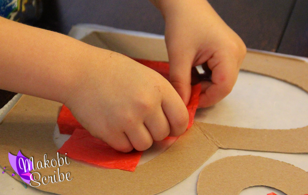 Crafting with kids for Valentines Day