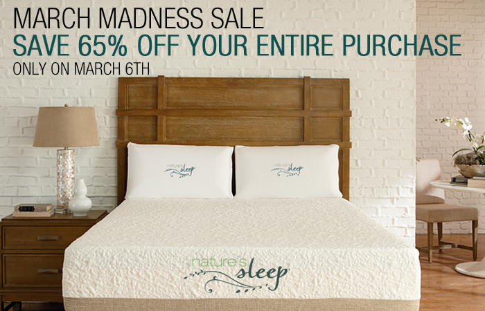 Nature's Sleep March Madness Sale