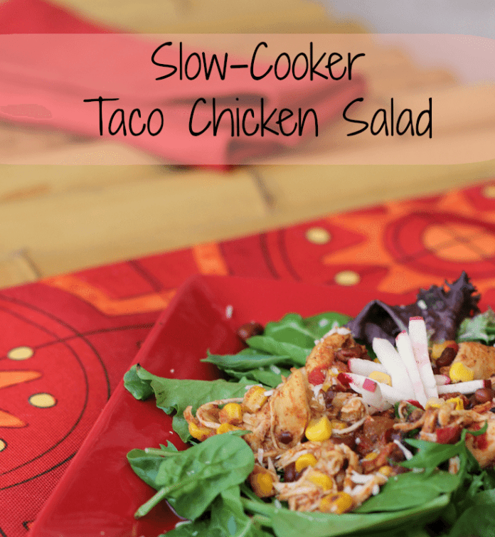Slow-Cooker-Chicken-Taco-Salad