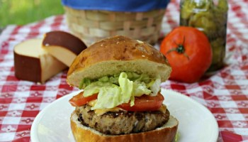 Turkey Black Bean Stuffed Burger