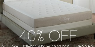 Memory Foam Gel Mattress Sale