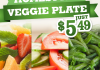 Watch you waistline with veggie plate