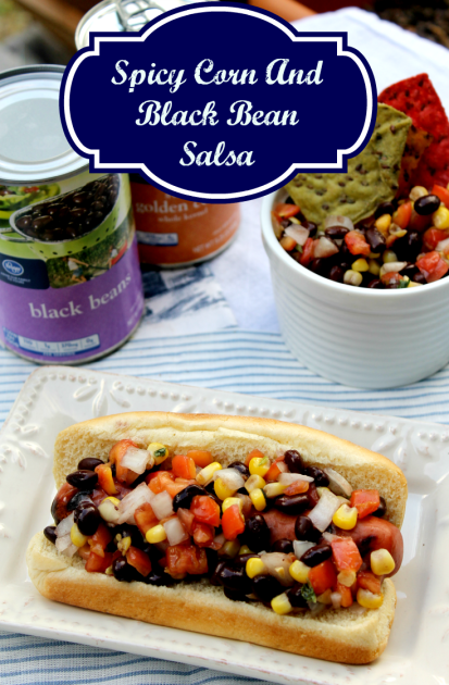 Spicy Corn And Black Bean Salsa pin