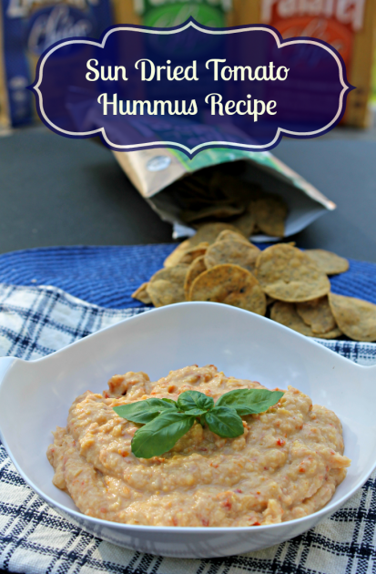 Sun Dried Tomato Hummus Recipe pin