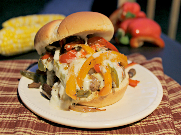 Gourmet Philly Cheese Steak Burger Recipe