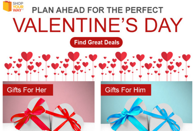 Shop Your Way Has Huge Savings For Valentine's Day