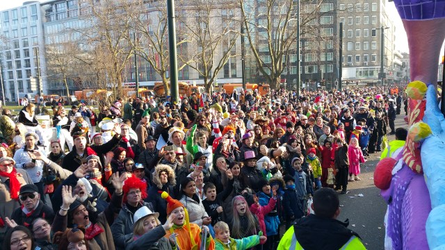 Dusseldorf Germany Karneval crowd