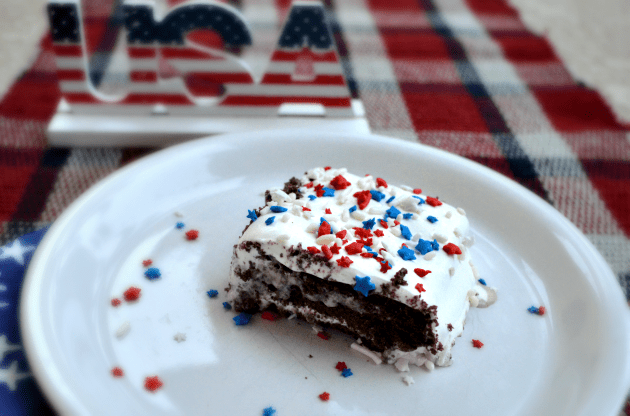 chocolate peanut butter icebox cake 4th of july