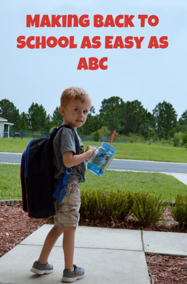 back to school as easy as ABC