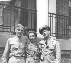 I am on the left with my mother and brother, July 8, 1944
