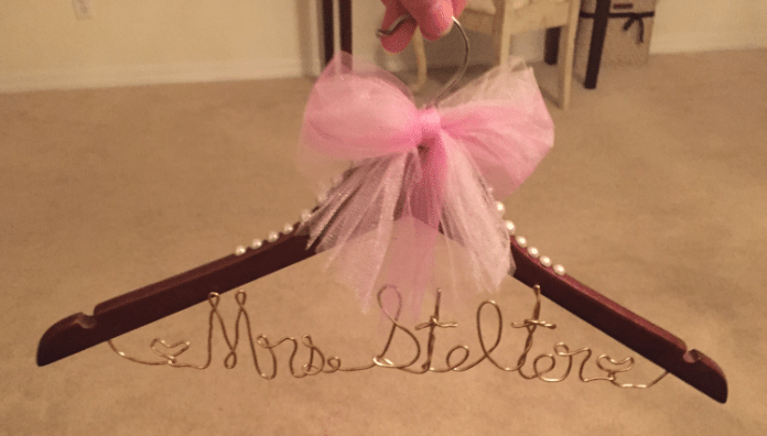 DIY Wedding Dress Hanger 2