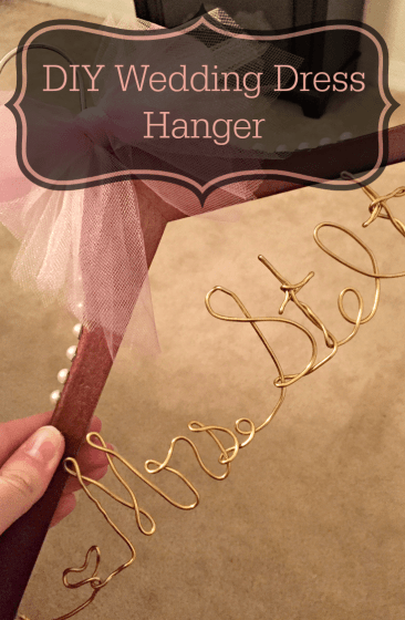 DIY Wedding Dress Hanger 4