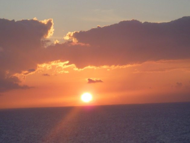 Sunset: The best sunsets in the world are over the ocean.