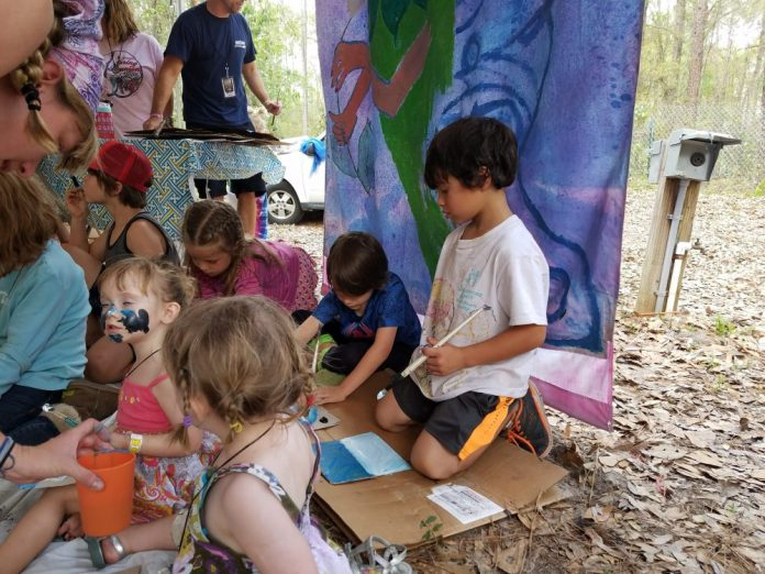 Suwannee spring music campground spring reunion kids tent