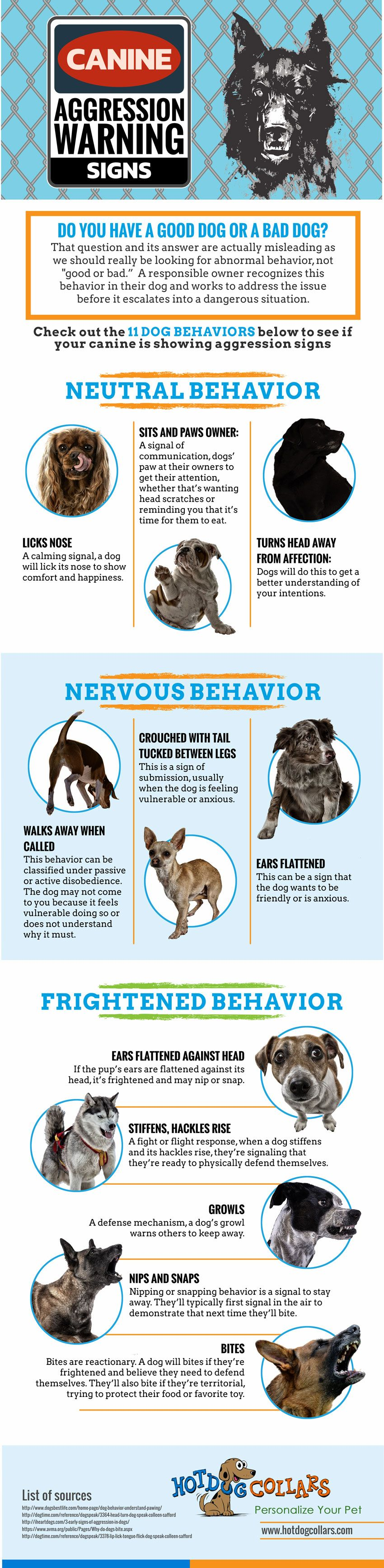 Canine Aggression Warning Signs Infographic