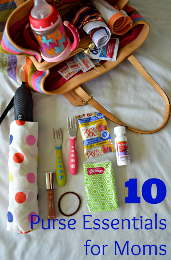 purse essentials for moms pin
