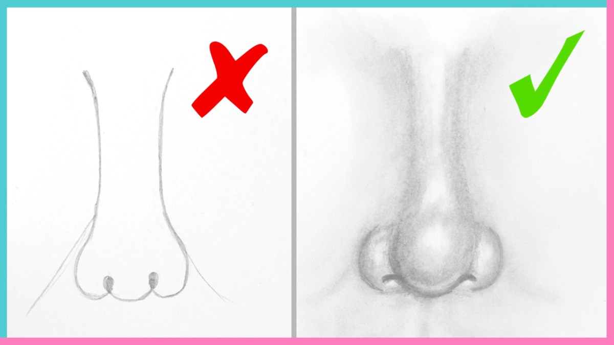 How To Draw Real Life Nose