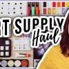 Art Supply Haul Makoccino