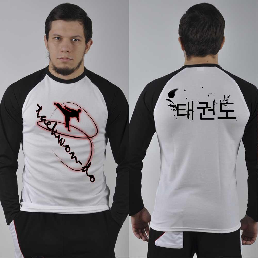 Taekwondo Long Sleeve Shirts Lstkd19 With Marvelous Taekwondo Design