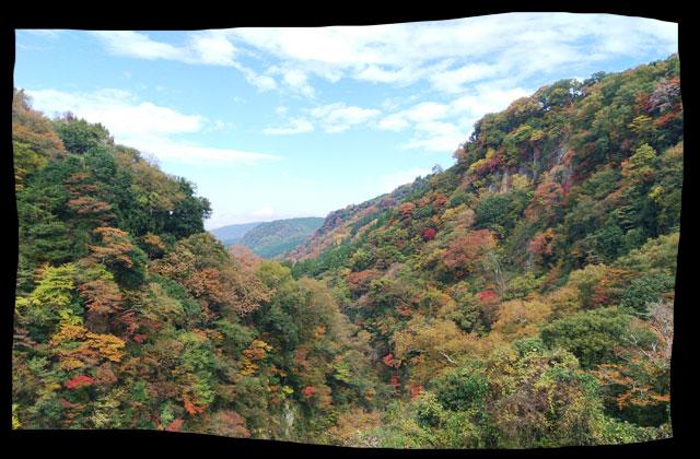 桂茶屋から見た遠くの景色