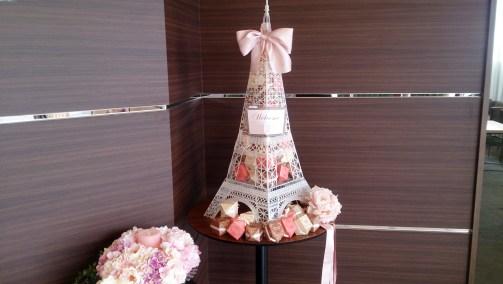 結婚式場のタワー型プレゼント