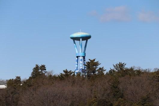 愛地球博の開発中地帯のタワー01