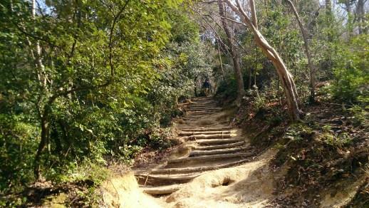大文字山の前半の登山道山道01