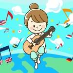 歌ってみたCGで、地球とギター