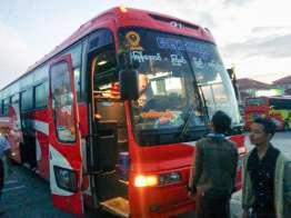バスでネピドーへ