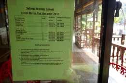 Salang Sayang Resort の値段。コラールスポットに一番近く、高い。