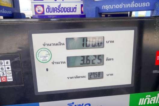 Gasoline price 91