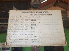 Thakhek へ6万キープ