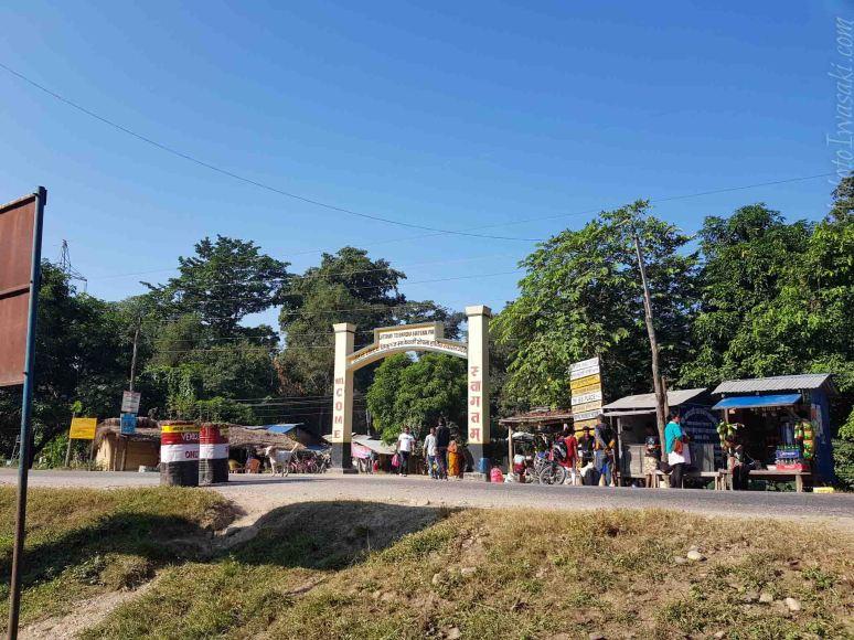 Ambassa がBardia 國立公園の入口