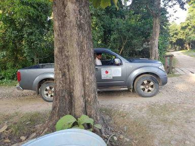 國立公園管理車は日本の援助