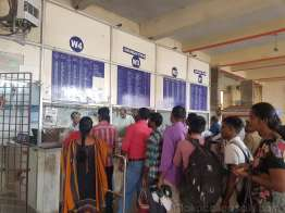 Chennai Suburban Terminal 駅の切符売り場