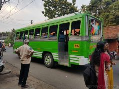 Alleppey station to hotel area by bus