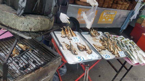 焦げ焼き魚。よくありがちな油揚げでないのがいい