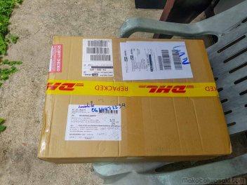 その8日後、もう修理が終わって来たのかと思ったら、その数日後にNECが日本から空の梱包箱を送ってきた。