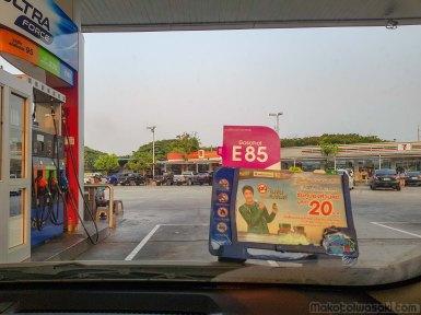給油中 E85