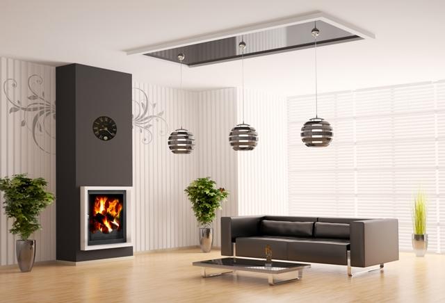 Камин Profi встроенный в дизайн дома