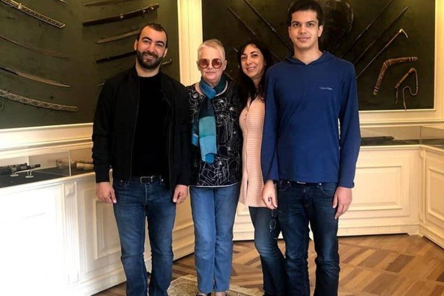 В гостях у Центра племянница Максуда Ибрагимбекова Зара с  сыновьями.