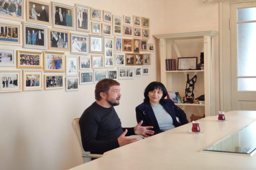 Рена Миркасимова-Фель и ее коллега из Италии Сергей Ермолинский